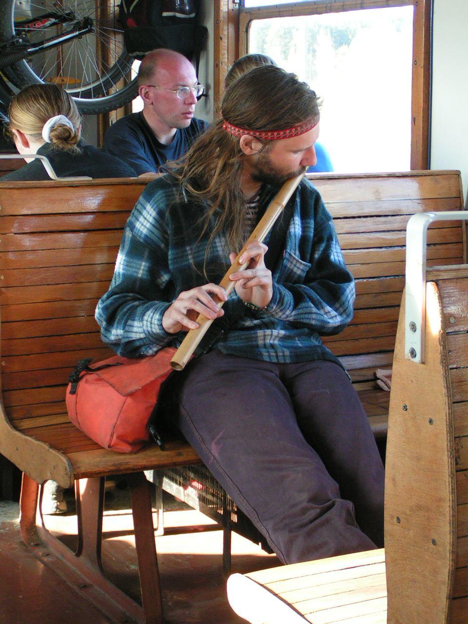 Электричка хиппи флейта